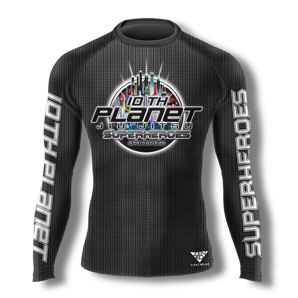 10th Planet Springfield Superheroes Rashguard - Zenko Fightwear
