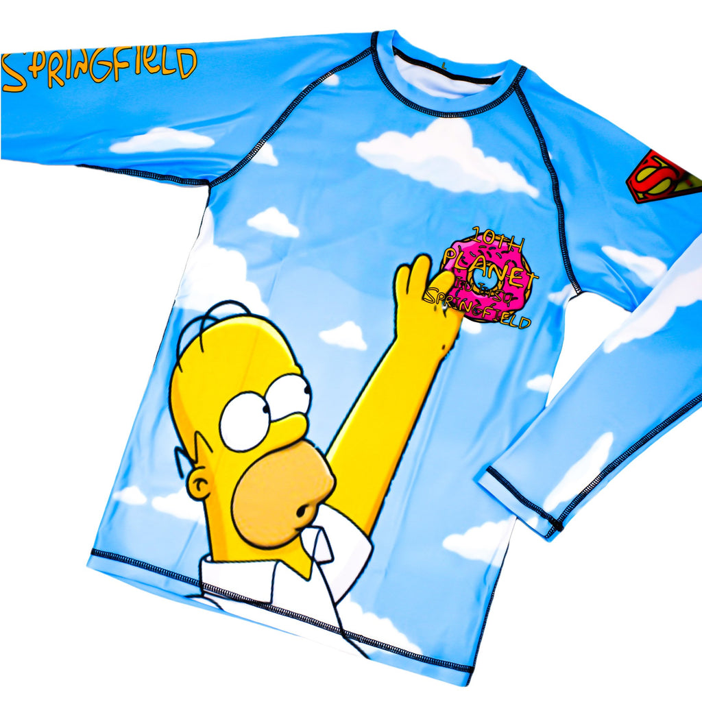 10th Planet Springfield Simpsons Rashguard Front