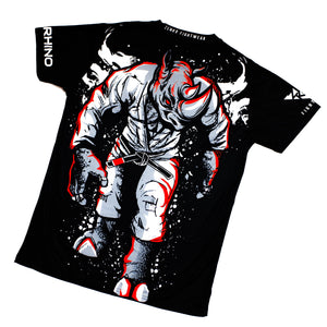 Asylum Fight Team - White Rhino BJJ Rhino Jersey Tee - Zenko Fightwear