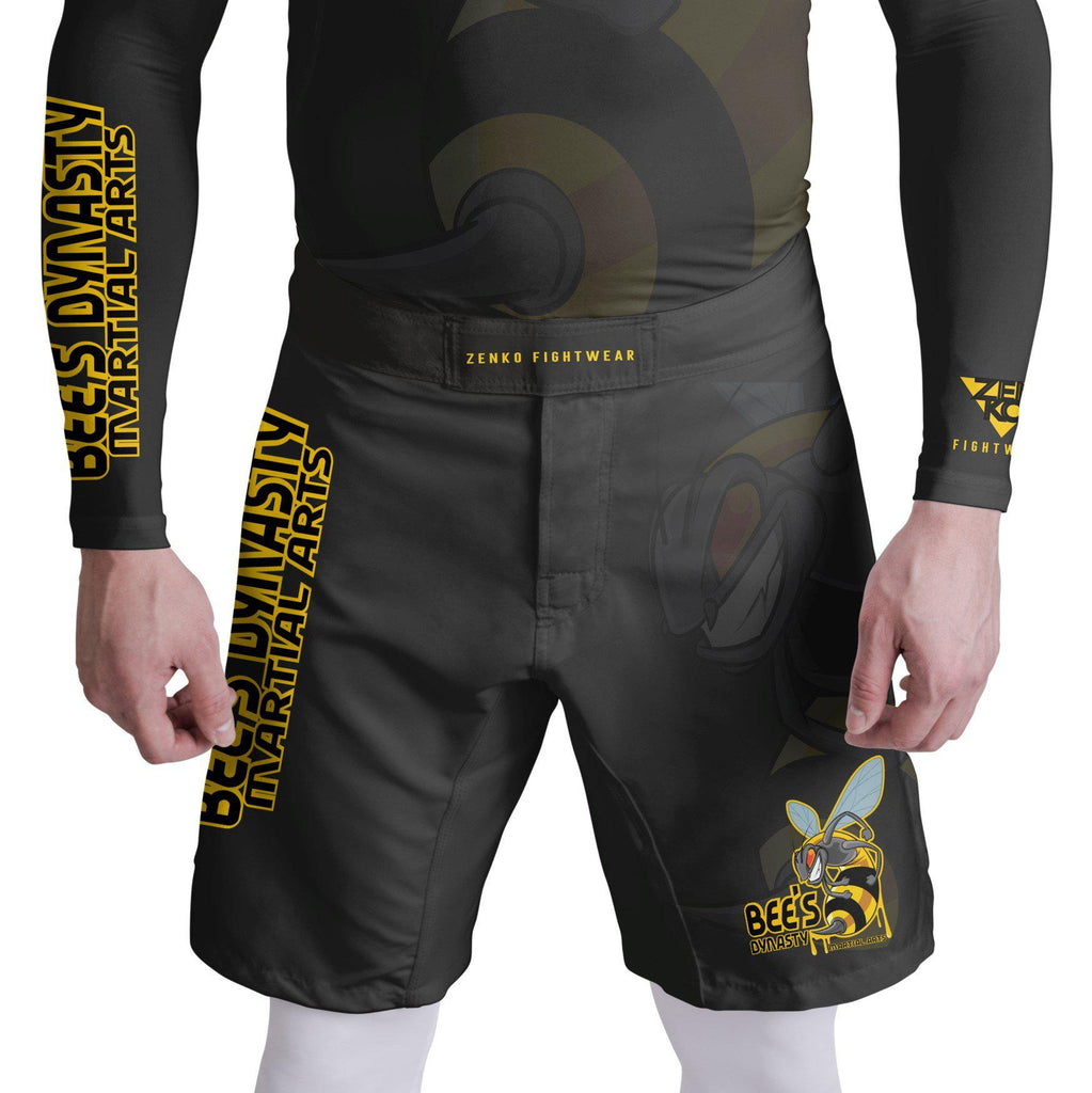 Bee's Dynasty Fight Shorts (Black) Zenko Fightwear