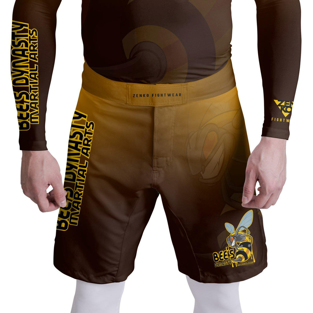 Bee's Dynasty Fight Shorts (Yellow) Zenko Fightwear