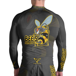 Bee's Dynasty Long Sleeve Rashguard (Black) Zenko Fightwear
