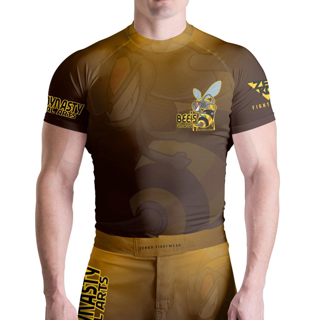 Bee's Dynasty Short Sleeve Rashguard (Yellow) Zenko Fightwear