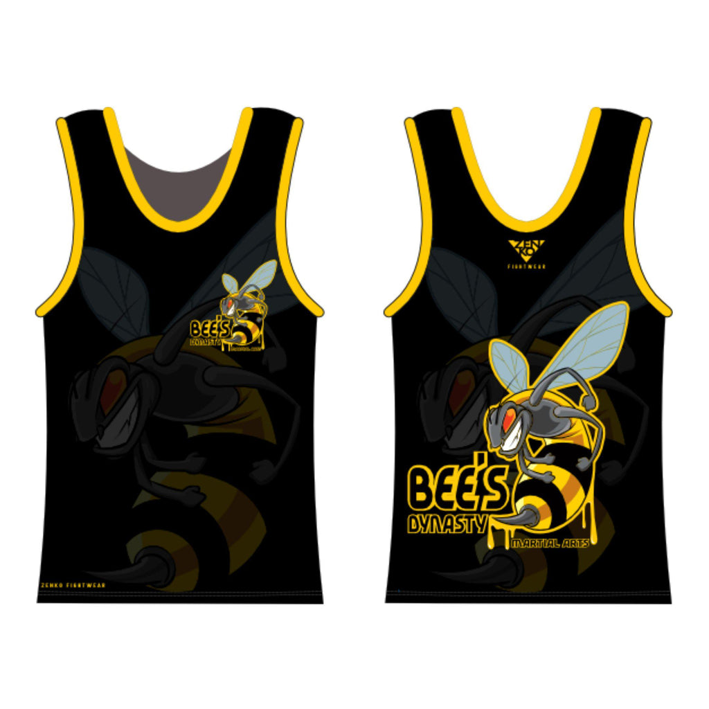 Bee's Dynasty Martial Arts Tank Top (Black) Zenko Fightwear