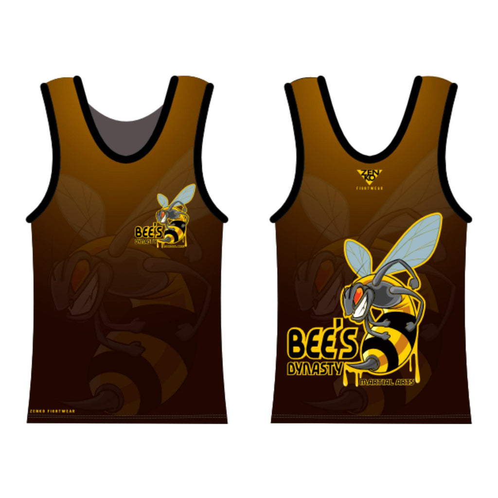 Bee's Dynasty Martial Arts Tank Top (Yellow) Zenko Fightwear