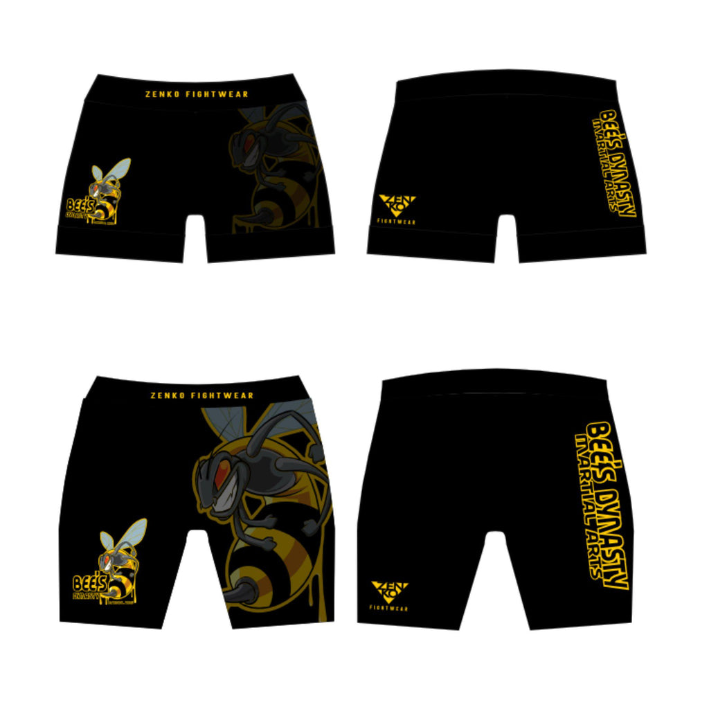 Bee's Dynasty Vale Tudo Shorts (Black) Zenko Fightwear