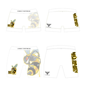 Bee's Dynasty Vale Tudo Shorts (White) Zenko Fightwear