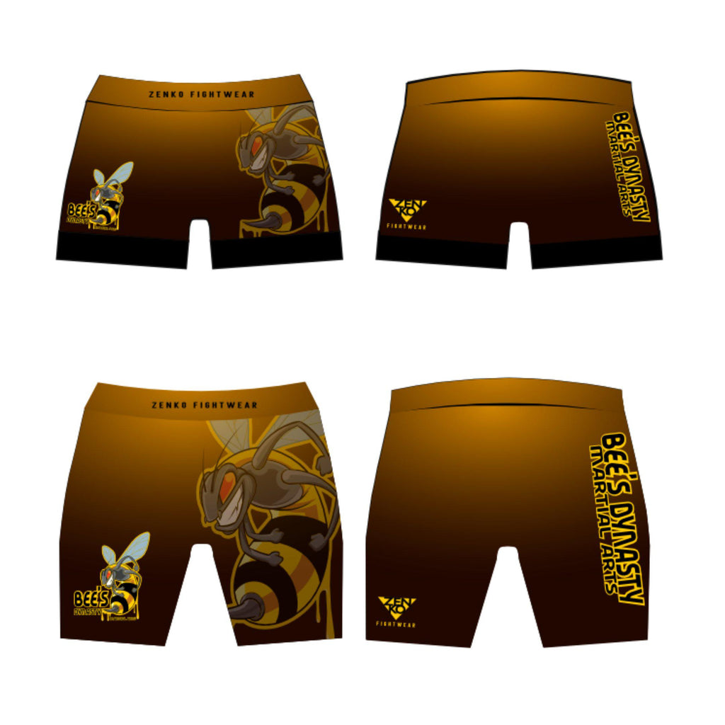 Bee's Dynasty Vale Tudo Shorts (Yellow) Zenko Fightwear