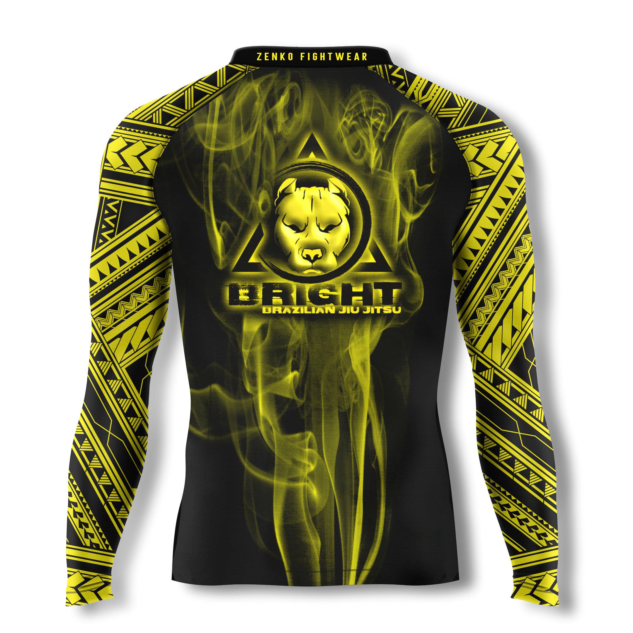 Bright Brazilian Jiu Jitsu Long Sleeve Rashguard - Zenko Fightwear
