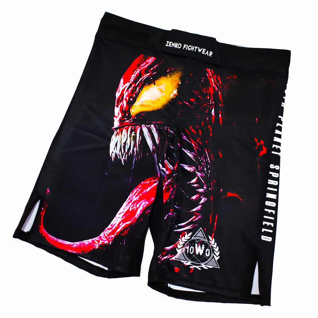 10th Planet Springfield SHJJ Carnage Fight Shorts Front