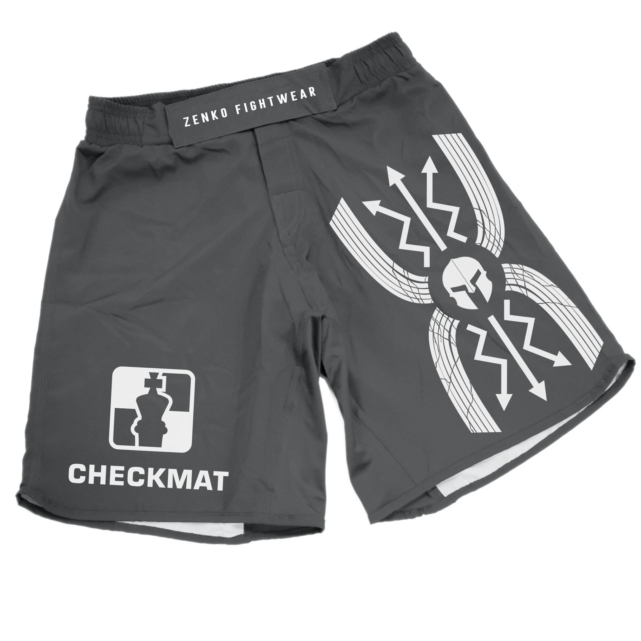 Legion Jiu Jitsu Grappling Shorts (Gray) Zenko Fightwear