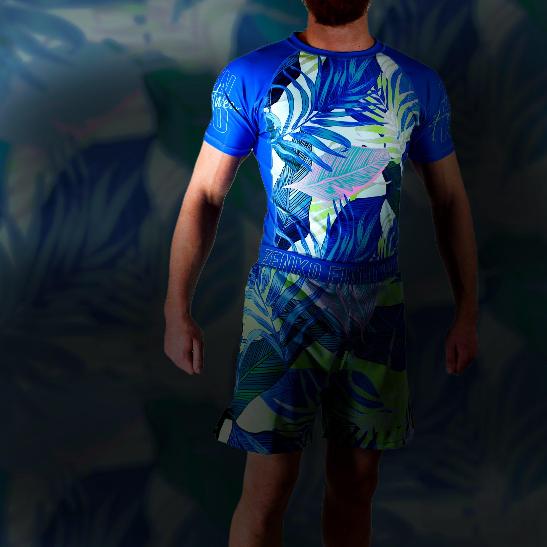 Zenko Fightwear Malibu Rashguard + Malibu Hybrid Fight Shorts