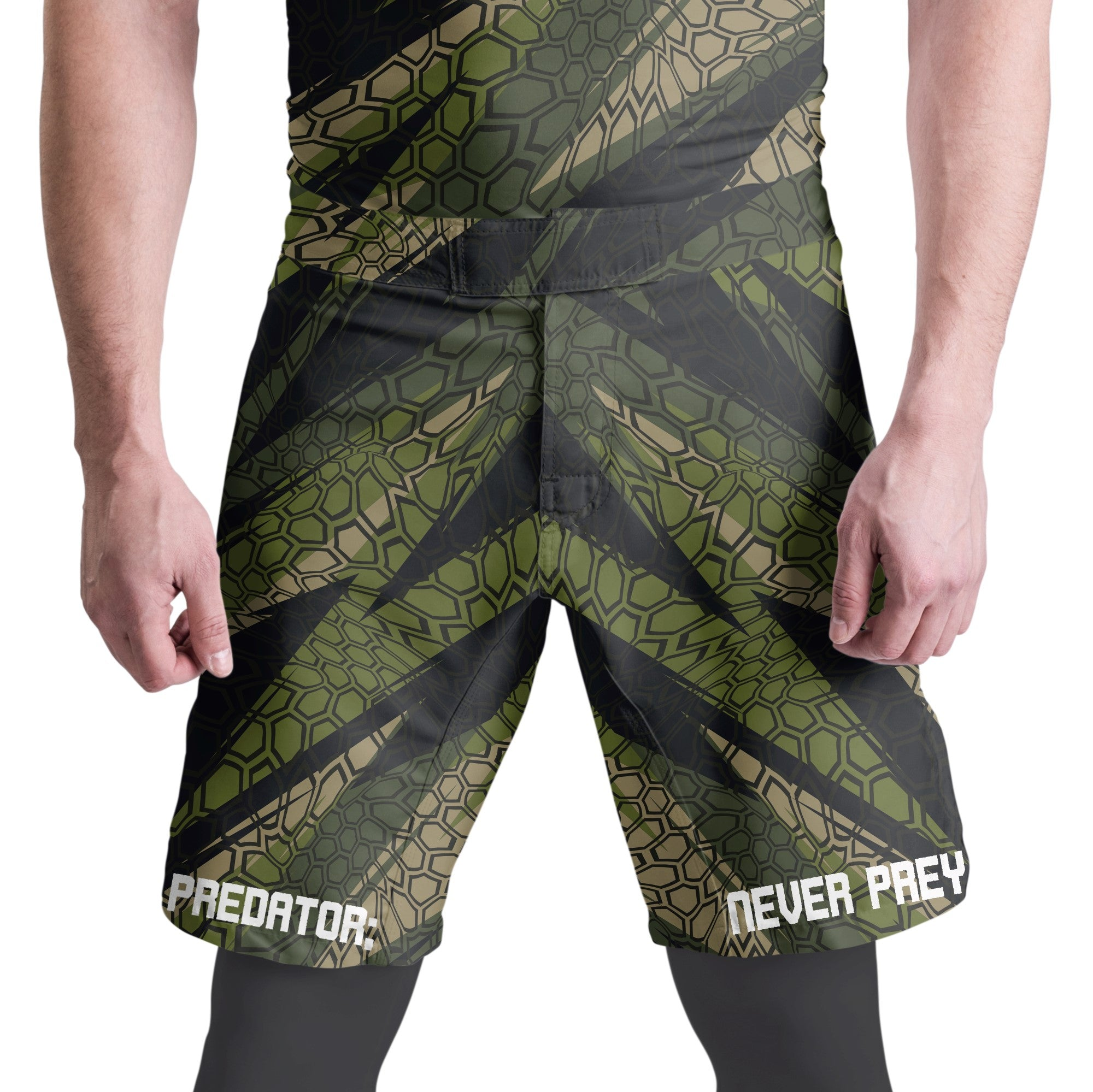 Predator Fight Shorts - Front - Zenko Fightwear