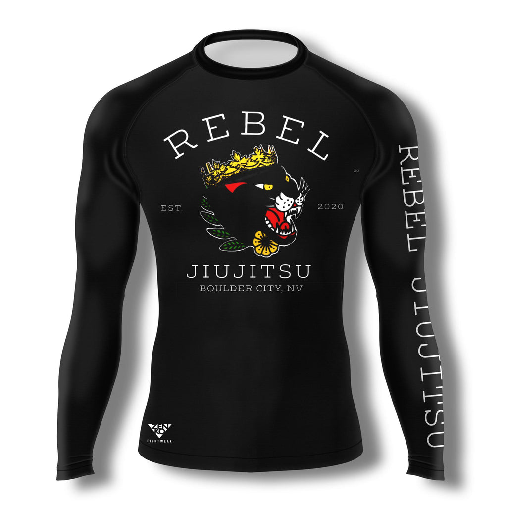 Rebel JiuJitsu Long Sleeve Rashguard V1 - Zenko Fightwear