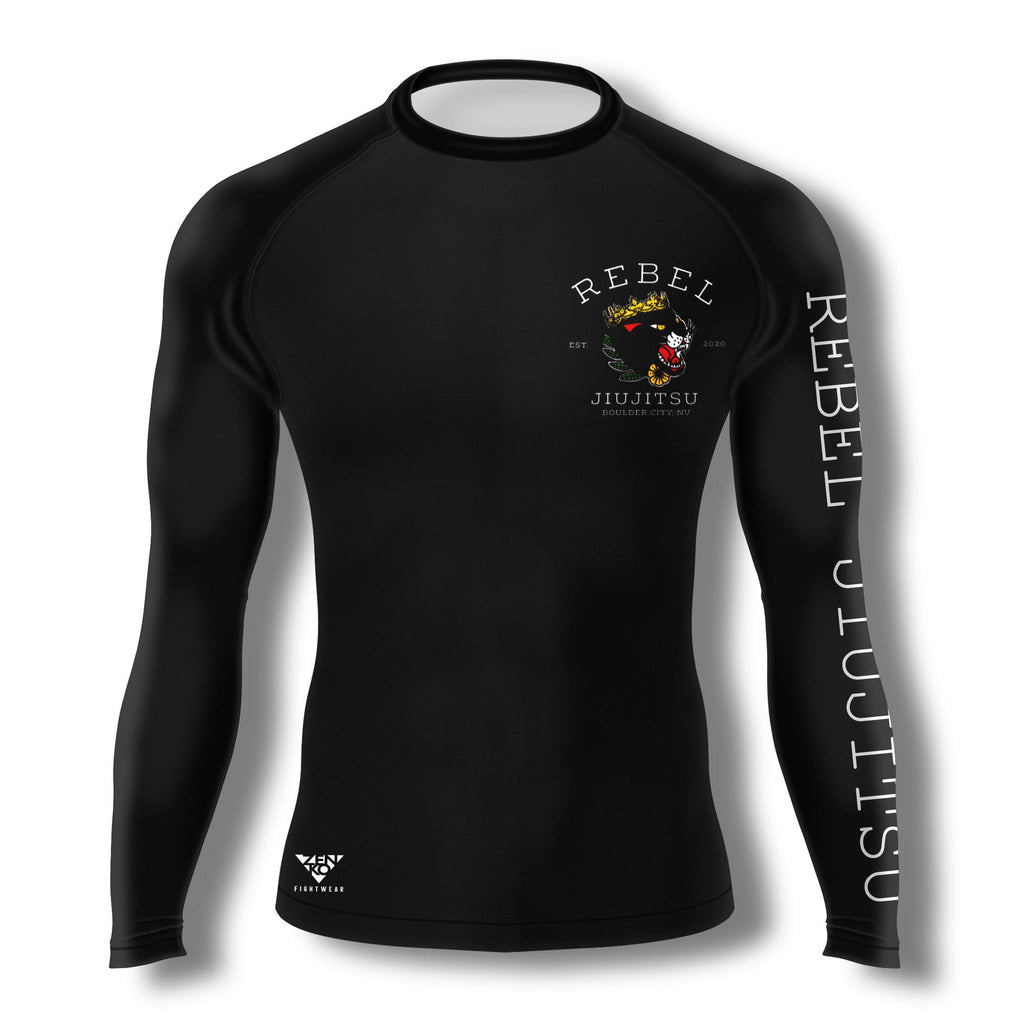 Rebel JiuJitsu Long Sleeve Rashguard V2 - Zenko Fightwear