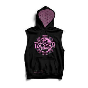 The Warrior Forged Project Sleeveless Hoodie (Pink) Zenko Fightwear