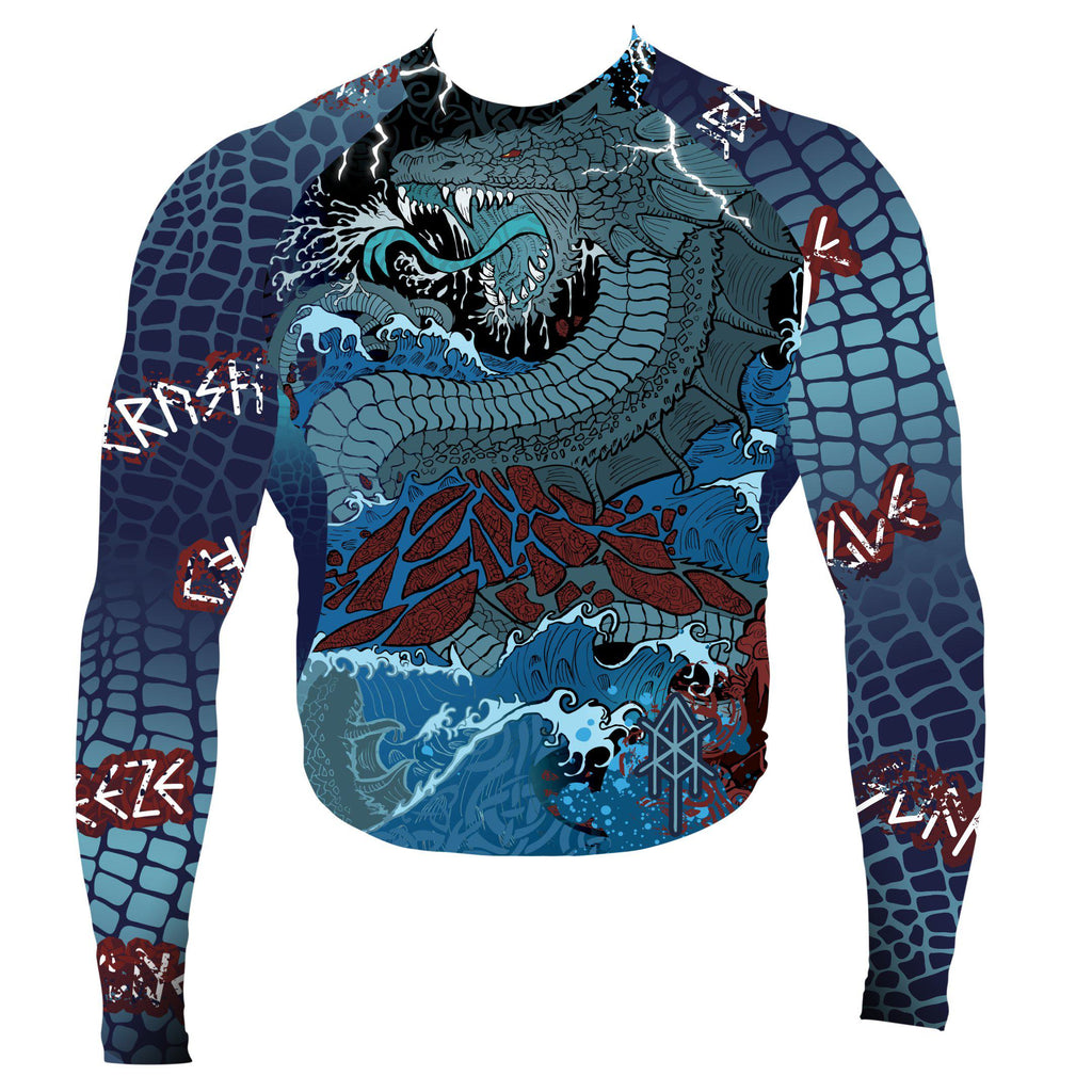Training Is Ritual Jörmungandr Long Sleeve Rashguard Front - Zenko Fightwear