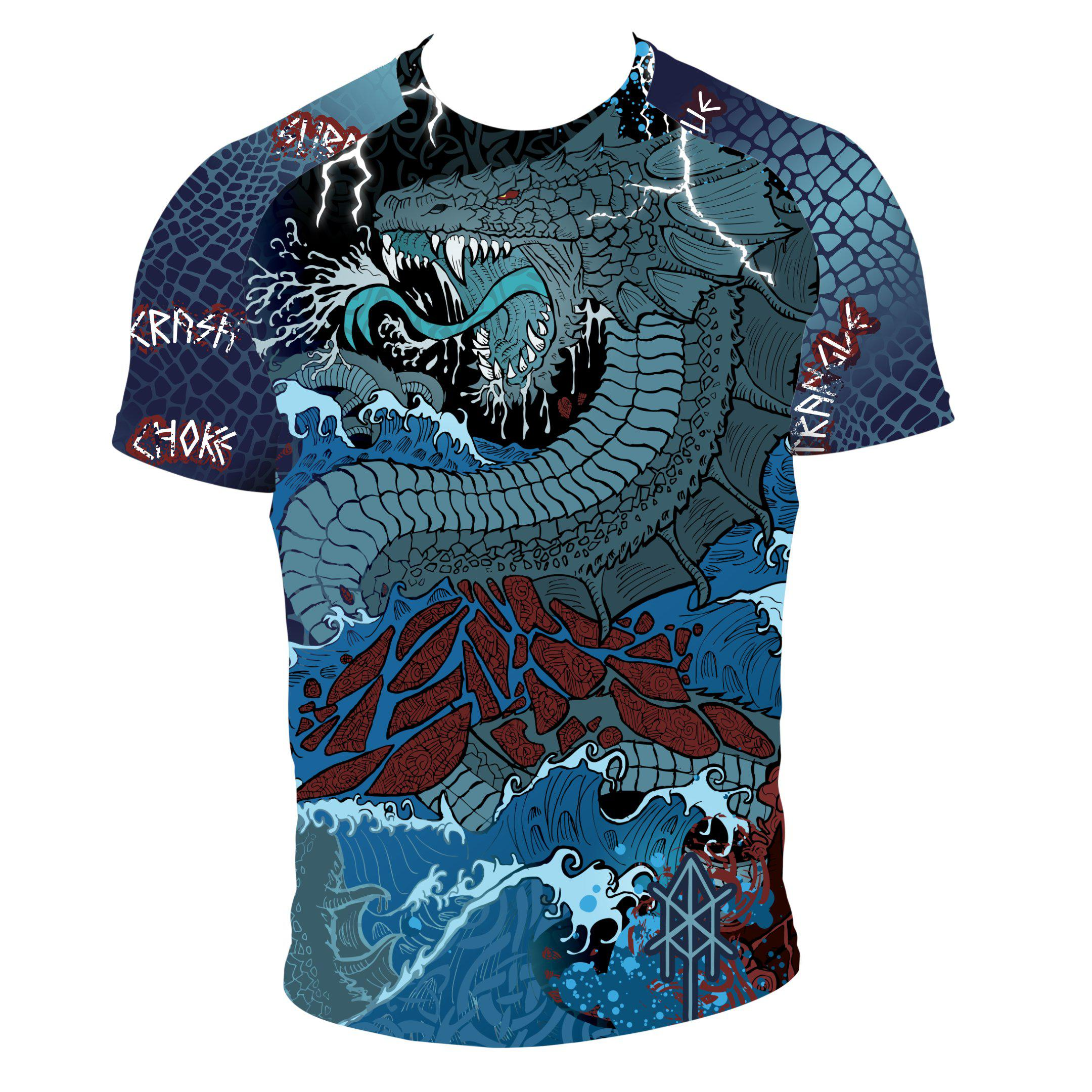 Training Is Ritual Jörmungandr Short Sleeve Rashguard Front - Zenko Fightwear