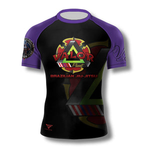 Valor Brazilian Jiu Jitsu Ohio Ranked Rashguard (Purple) Zenko Fightwear