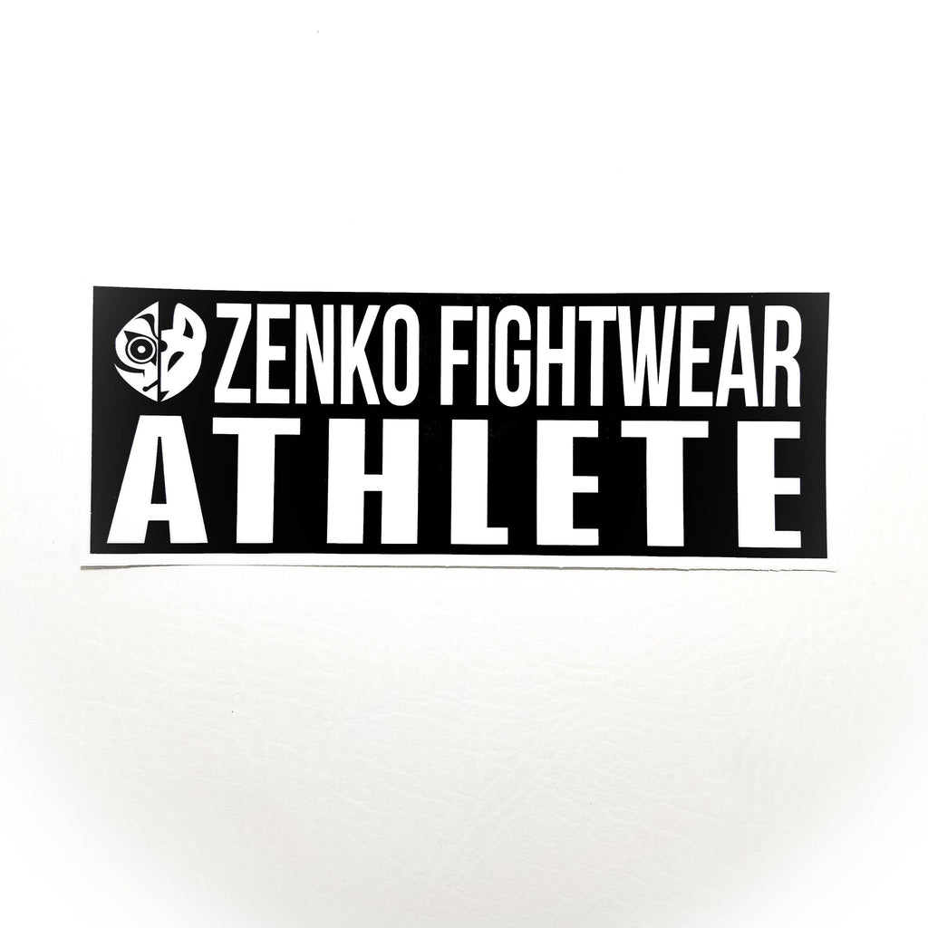 Zenko Fightwear Athlete Decal Sticker