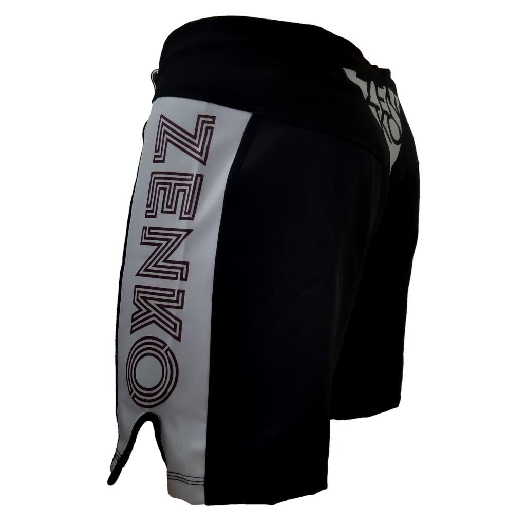 Zenko Fightwear Gunmetal Fight Shorts Gray Black Back