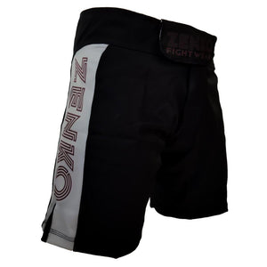 Zenko Fightwear Gunmetal Fight Shorts Gray Black Front