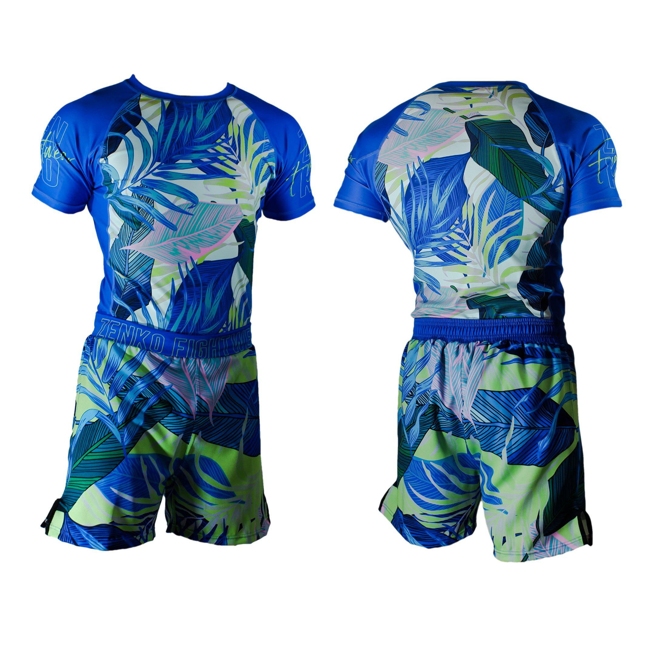 Zenko Fightwear Malibu Rashguard & Hybrid Fight Shorts