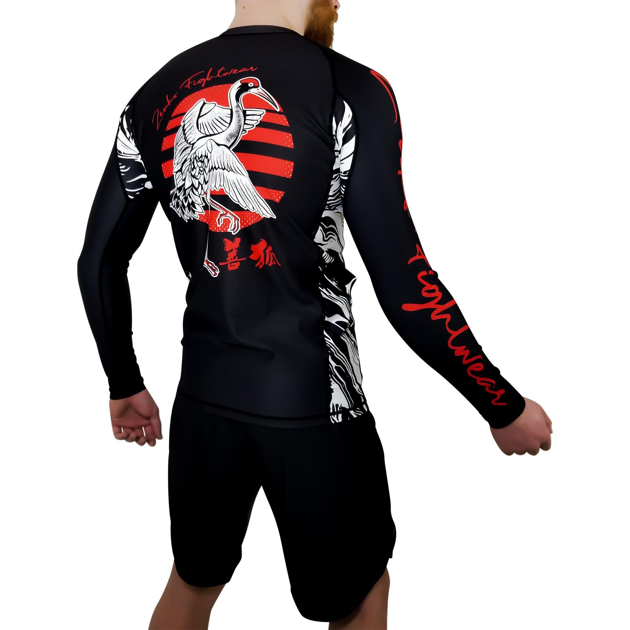 Zenko Fightwear Nihon Rashguard & Fight Shorts Back
