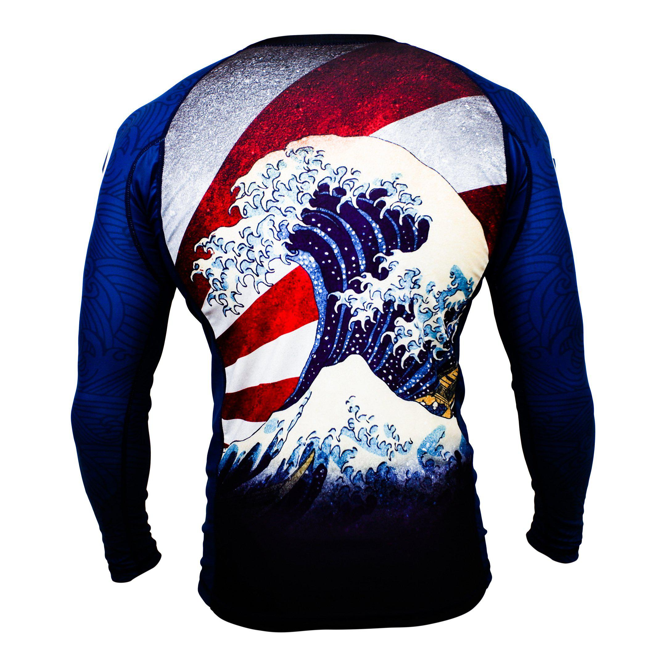 Zenko Fightwear The Great Wave Rashguard Back