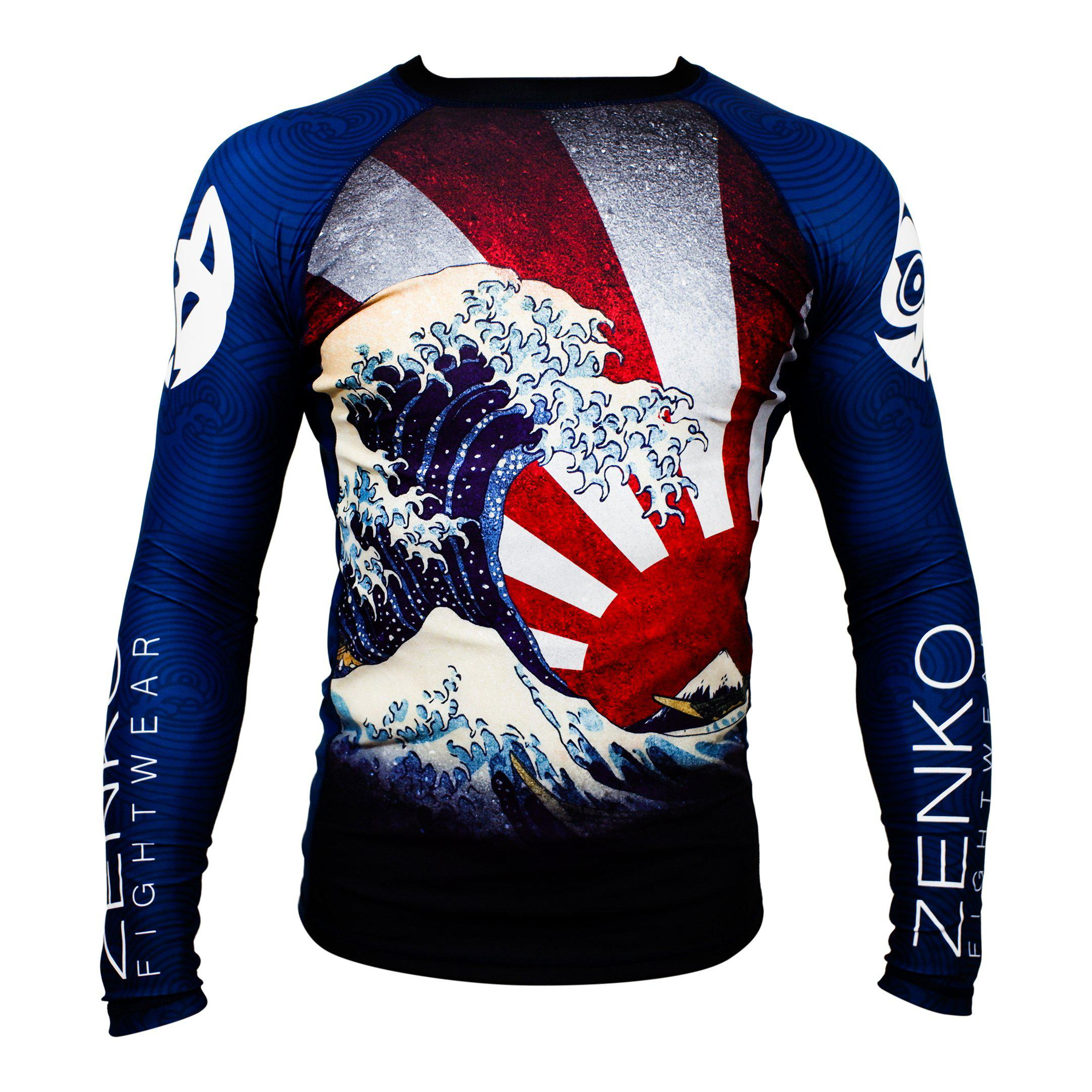 Zenko Fightwear The Great Wave Rashguard Front