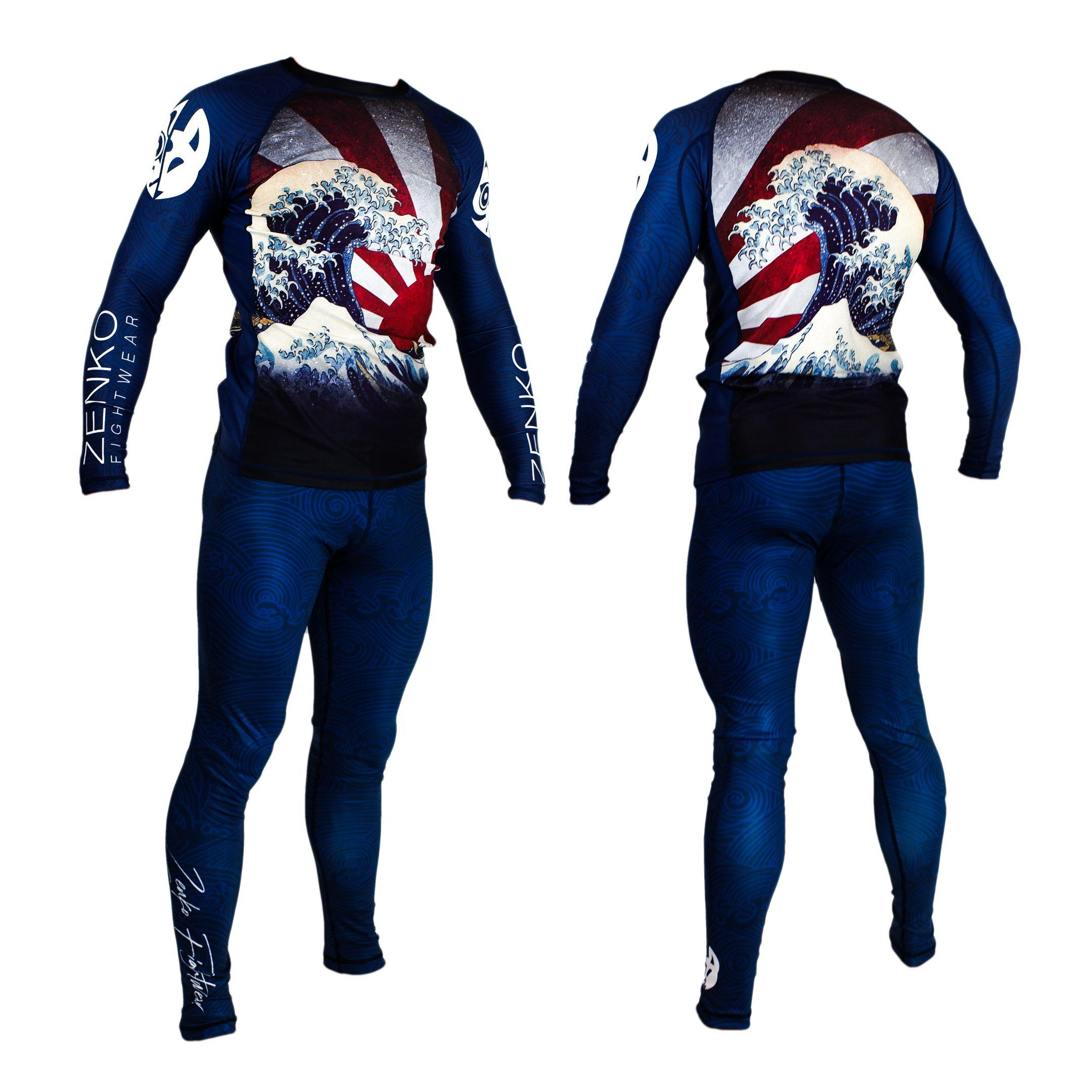 Zenko Fightwear The Great Wave Rashguard & Spats