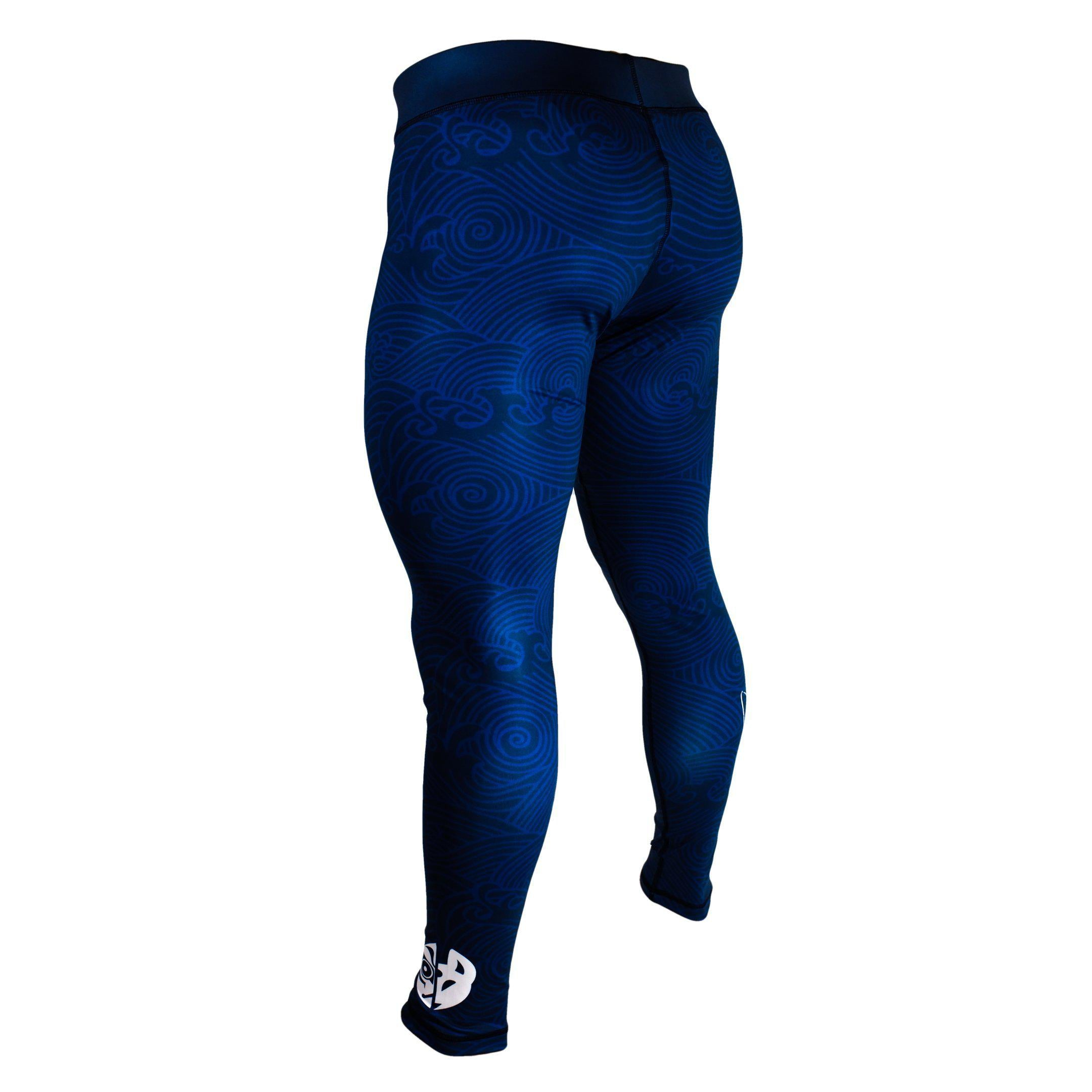 Zenko Fightwear The Great Wave Spats Back