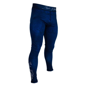 Zenko Fightwear The Great Wave Spats Front