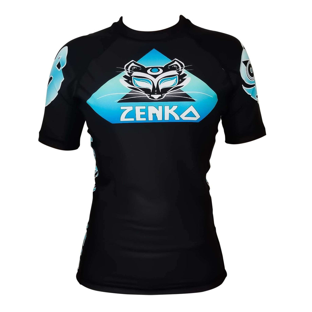 Zenko Fightwear Electric Fox Rashguard Front
