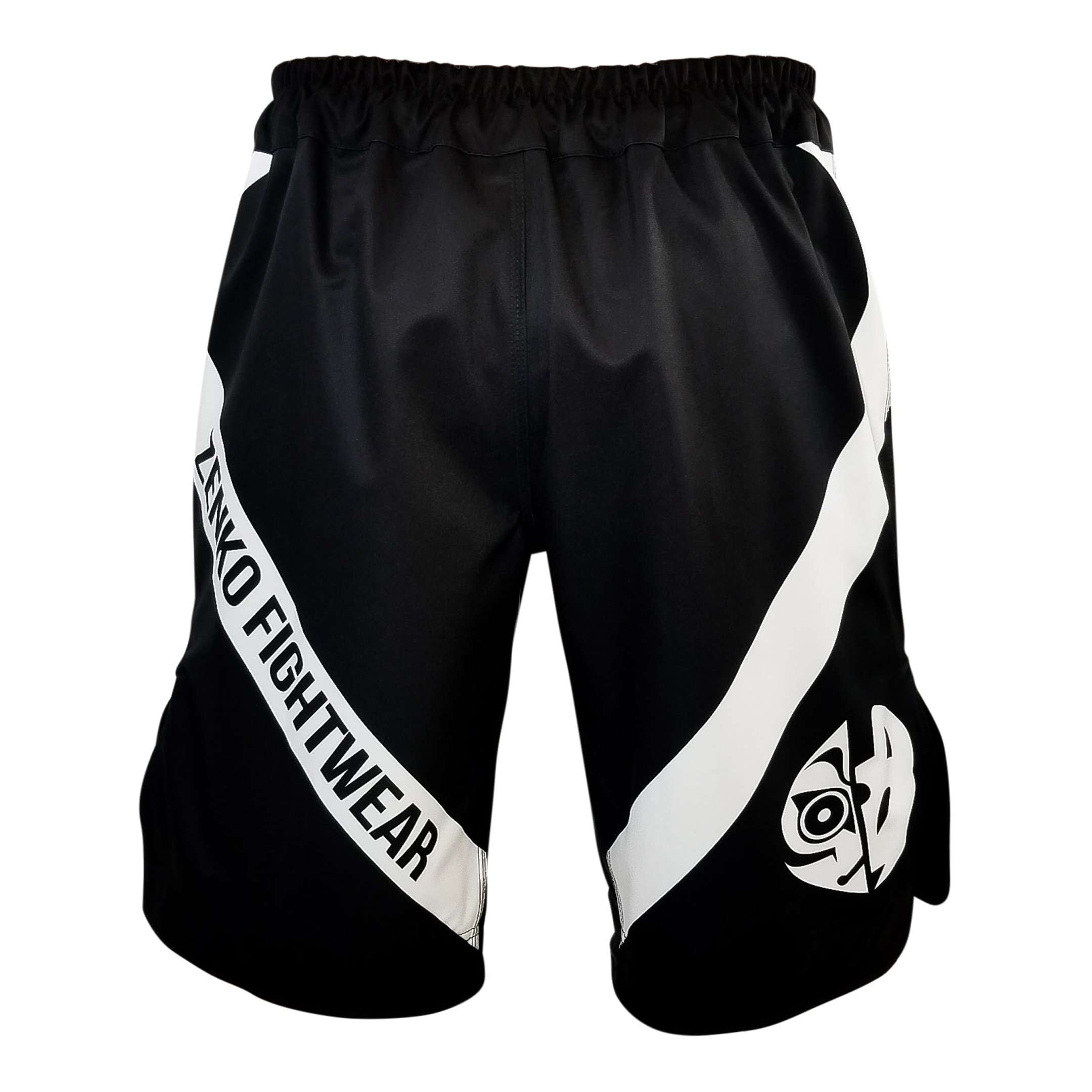 Zenko Fightwear Black Logo Fight Shorts Back