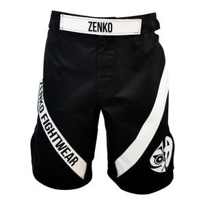 Zenko Fightwear Black Logo Fight Shorts Front