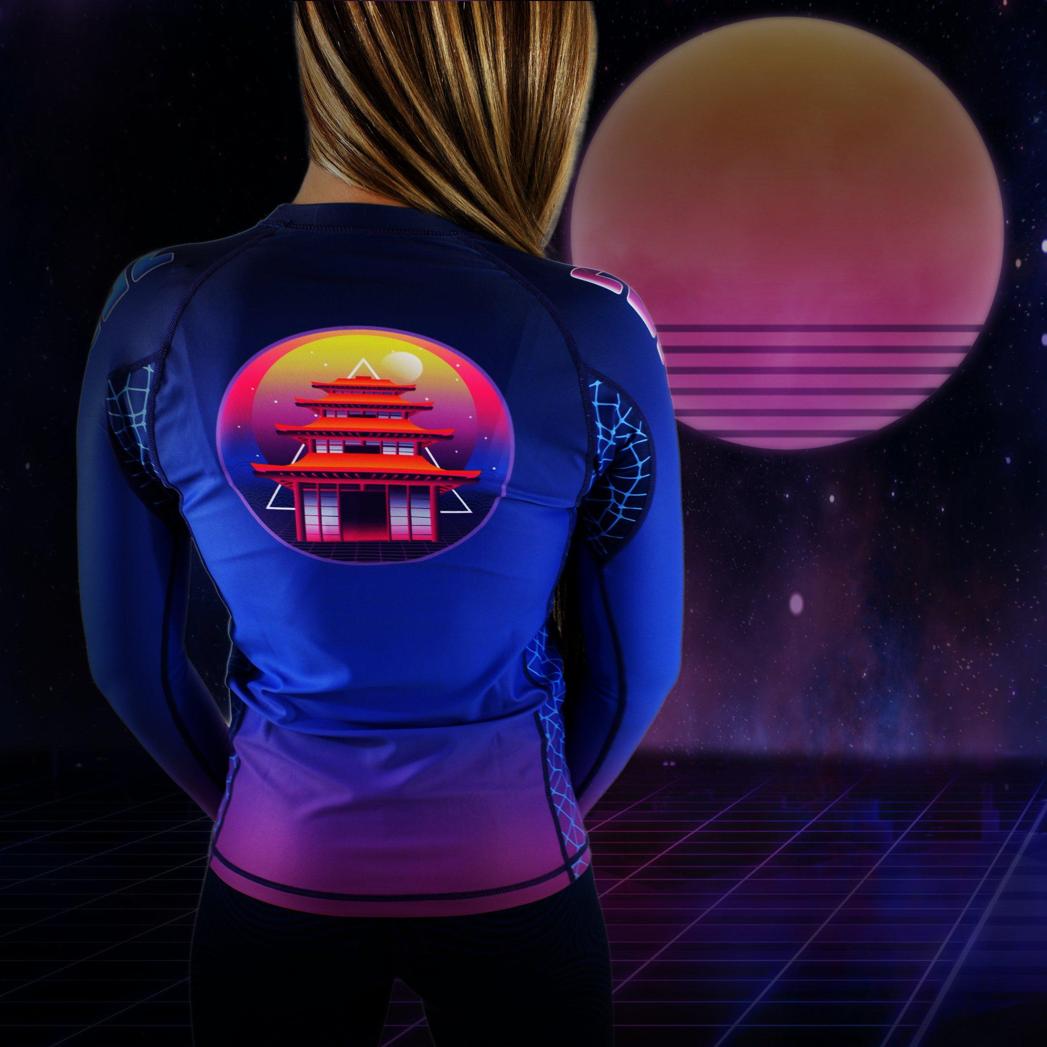 Zenko Fightwear Vaporwave Rashguard + The Great Wave Spats
