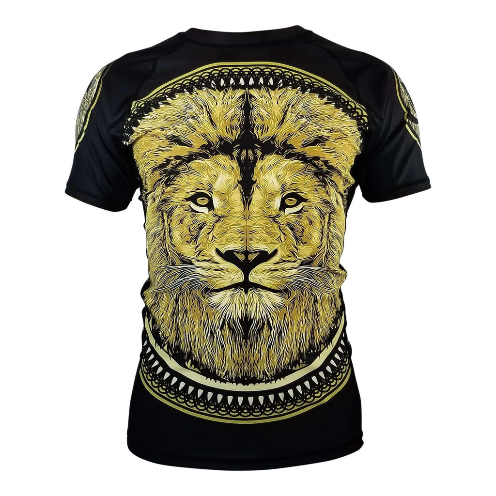 Zenko Fightwear Royal Guard Rashguard Gold Lion Front