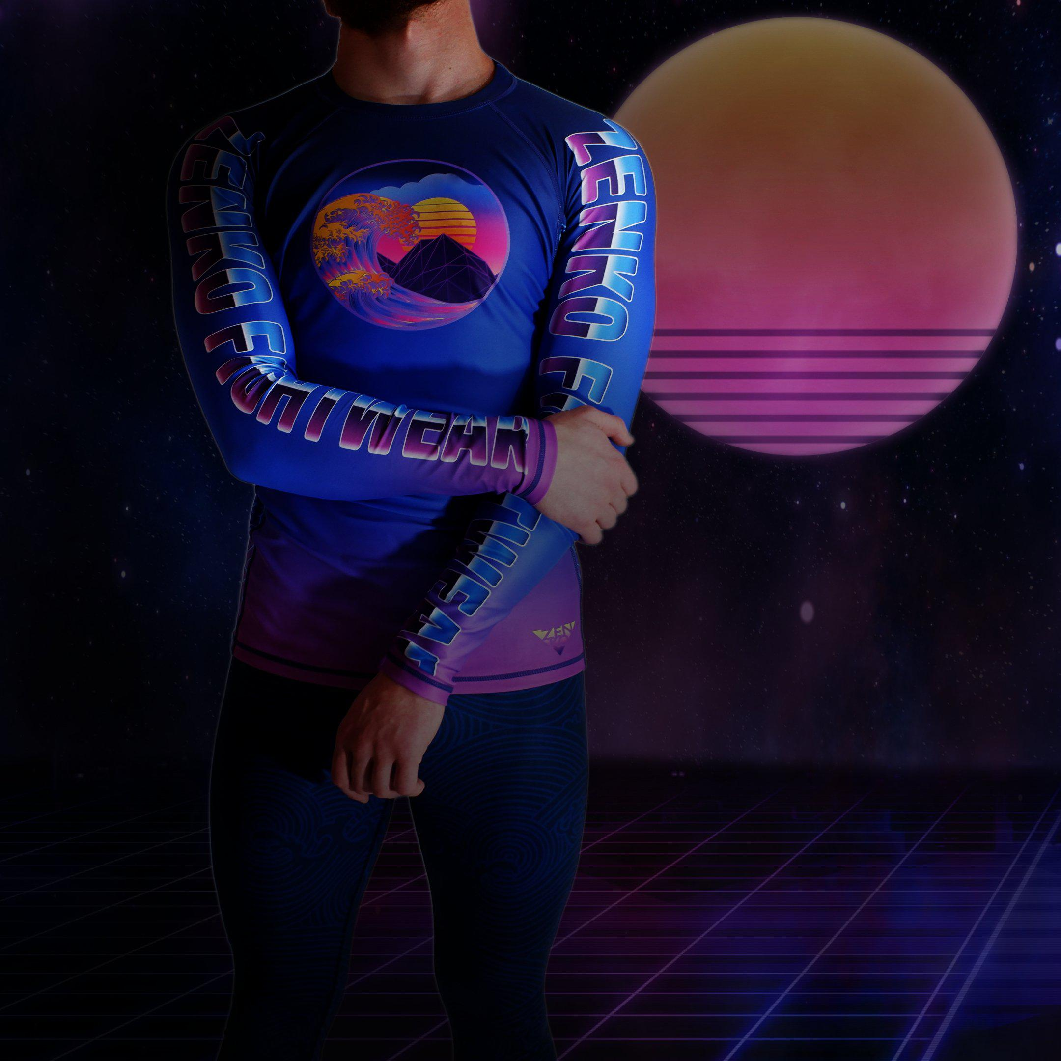 Zenko Fightwear Vaporwave RashguardZenko Fightwear Vaporwave Rashguard + The Great Wave Spats