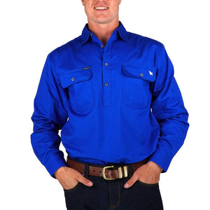 Mens Ringers Western King River Half Button Work Shirt