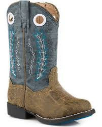 Kids Roper Hole in the Wall Blue Boot