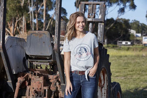 Womens Pure Western Heather Side Tie Tee S20