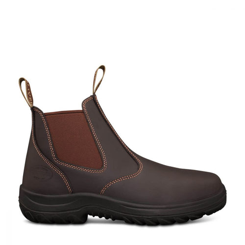 Oliver Workboot Claret Elastic Side