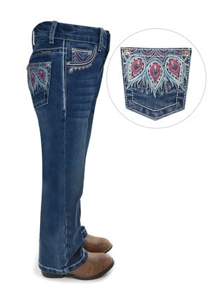 Girls Pure Western Belle Bootcut Jean