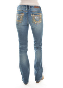 Womens Wrangler Rock 47 True Blue Sits above Hip Jean