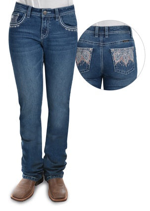 Womens Pure Western Katelyn Relaxed Rider Jean 36 Leg