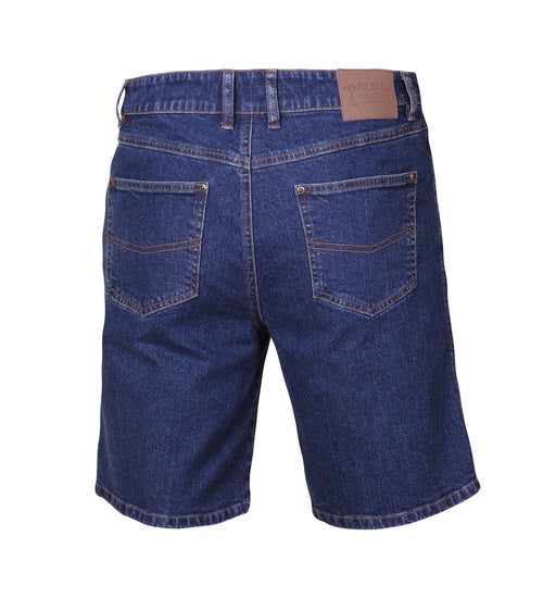 Mens Pilbara Cotton STretch Denim Short- Blue