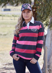 Womens Wrangler Phoebe Stripe Rugby