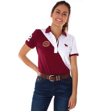 Womens Ringers Western Arena Polo