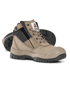 Mongrel Workboot Ankle Zipsider with Scuff cap Stone